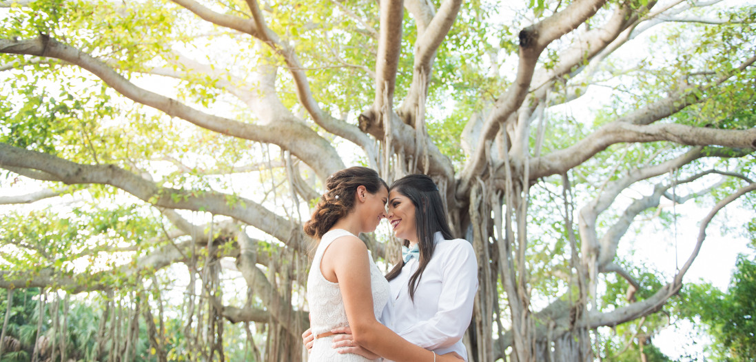 Emily + Natalia's Wedding - Hugh Taylor Birch State Park - Ft. Lauderdale, FL